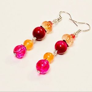 Mango Berry Jazz Music Dancing Earrings